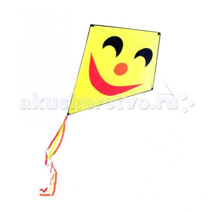 От винта! Змей воздушный СмайликЗмей воздушный СмайликОт винта! Змей воздушный Смайлик 124 х 152 см.  Яркий и веселый воздушный змей будет дарить всем свою улыбку с высоты 30 метров. Воздушный змей - это привязной летательный аппарат тяжелее воздуха. Поддерживается в воздухе давлением ветра на поверхность, поставленную под некоторым углом к направлению движения ветра.   Воздушный змей состоит из полотна, называемого парусом. Парус натягивается на каркас из гибких пластиковых реек. Парус произведен из специального непродуваемого материала - армированного нейлона. Прочная и достаточно толстая нить, которая не позволяет змею улететь и которая помогает спустить его с небес на землю, называется леером.   В последнее десятилетие наблюдается всплеск интереса к игровым воздушным змеям, который доходит, наконец, и до России. Но воздушные змеи - это не только развлечение, хобби, активный отдых, это еще и замечательная развивающая игра. Воздушные змеи летают благодаря встречному потоку воздуха, или, проще говоря, ветру.  Воздушный змей Смайлик. Длина леера - 30 м. Размер купола - 124 х 152 см. Инструкция по запуску воздушного змея - в наборе.  Комплектность: купол леер рейки.<br>
