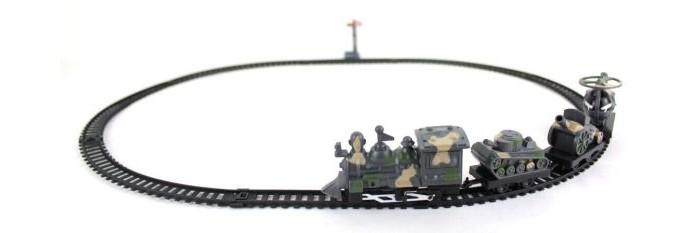 Shantou Gepai Железная дорога БронепоездЖелезная дорога БронепоездЖелезная дорога - игрушка с многолетней историей, в которую и по сей день дети играют с большим удовольствием!   На рельсы устанавливается поезд и проносится по ним.  Комплектность: поезд элементы пути<br>