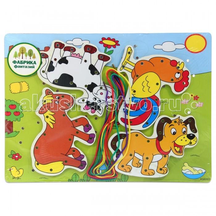 Деревянная игрушка Фабрика фантазий шнуровка Животные 41796