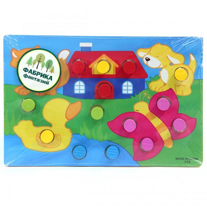 Деревянная игрушка Фабрика фантазий рамка-вкладыш Учим цвета