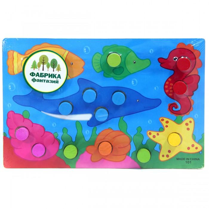 Деревянная игрушка Фабрика фантазий рамка-вкладыш Учим цвета 31089