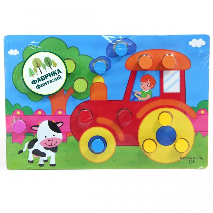 Деревянная игрушка Фабрика фантазий рамка-вкладыш Учим цвета 31090