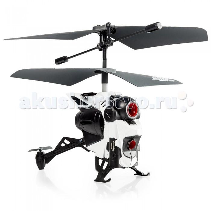 Air Hogs Вертолёт с камеройВертолёт с камеройAir Hogs Вертолёт с камерой. Радиоуправляемый вертолет-дрон с камерой может снимать видео и делать фотографии во время полета!   Трёхканальный ИК пульт управления удобно лежит в руках и обеспечивает полный контроль над полётом вертолёта. Встроенная камера 0,3 МП обеспечивает достойное качество картинки. Запись ведётся на встроенный твердотельный накопитель объёмом 128 МБ.   Заряжается игрушка от ПК или других подобных устройств при помощи USB-кабеля, входящего в комплект. Помимо этого, кабель служит для передачи видео и фото на компьютер.   Для работы пульта управления потребуются 3 мизинчиковые батарейки типа AAA 1.5 В.  Дрон с камерой Air Hogs на пульте радиоуправления предназначен для полетов в помещении, хотя с ним можно играть и на улице, но только при условии сухой безветренной погоды.<br>