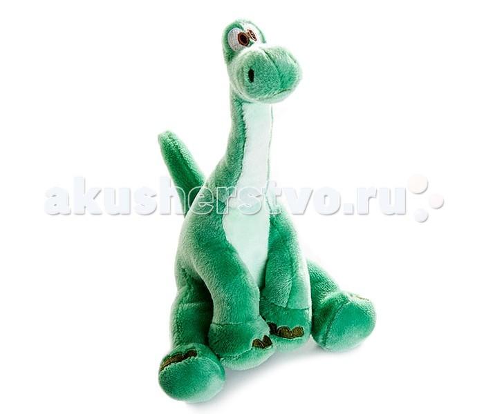 Мягкая игрушка Disney Хороший динозавр Арло сидячий 17 смХороший динозавр Арло сидячий 17 смМягкая игрушка Disney Хороший динозавр Арло сидячий 17 см главный герой мультфильма Хороший динозавр. Он живет в мире, где динозавры не вымерли от удара метеорита, а наоборот, развивались и процветали. Люди же, наоборот, остались на самом примитивном уровне.  В один поворотный день своей жизни Арло прогуливался по берегу реки и случайно упал в нее. Течением его вынесло в незнакомую местность, где он случайно встретил дикого человеческого ребенка! Так начинается история их невероятной дружбы и приключений.  Мягкий динозаврик сшит из высококачественного материала, безопасного для детей. Динозавр Арло точно такой же, как на экране - у него зеленая шерстка, большие глаза и забавная мордочка. Эта игрушка станет отличным подарком для поклонников мультфильма!<br>
