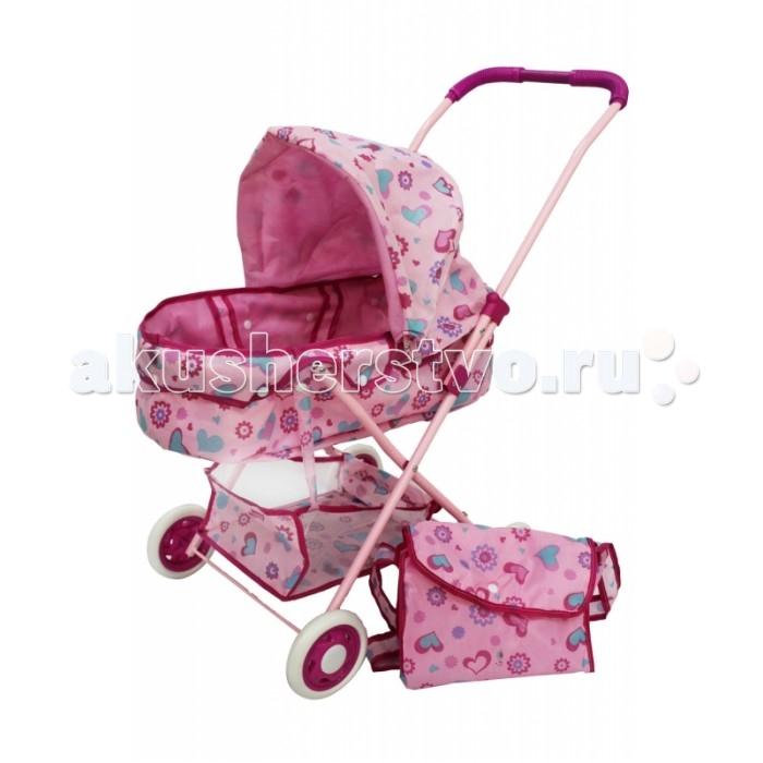 Коляска для куклы Shantou Gepai люлька с корзиной и сумкойлюлька с корзиной и сумкойПрогулочная коляска-люлька для куклы с корзиной для игрушек и сумкой. Корзина устанавливается внизу, сумку можно повесить на ручку.   Для маленькой девочки и ее кукол для сюжетно-ролевых игр детей от 3-x лет.  Ребенок сможет сполна насладиться ролью заботливой мамы или папы.  Размер коляски в собранном виде - 36х56х58 см.   Играя в сюжетно-ролевые игры, дети создают вымышленный мир, инсценируя повседневную жизнь с ее разными взаимоотношениями, проявляют заботу о ком-то или осознают ответственность за кого-либо, развивают воображение.<br>