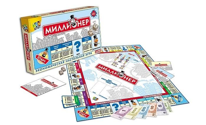 Origami Настольная игра Миллионер-классикНастольная игра Миллионер-классикOrigami НИ Миллионер-классик.  Легко ли быть современным бизнесменом? Раскройте перед собой красочное поле игры Миллионер Classic, и вы встретитесь с захватывающими правилами честного и «теневого» бизнеса, жёсткими законами выживания в конкурентной борьбе. Миллионер Classic – это традиции Монополии и Менеджера плюс современность. Это игра для миллионеров третьего тысячелетия.  Цель игры - стать монополистом и разорить остальных игроков. В игре может участвовать от 2-х до 6-ти игроков. Игровое поле – квадрат. Движение по полю осуществляется от угловой клетки СТАРТ по часовой стрелке. Нумерация сторон, от первой до четвёртой также производится по часовой стрелке. По периметру игрового поля располагаются 8 цветных ОТРАСЛЕЙ, каждая из которых состоит из 3-х участков, имеющих собственные названия. Клетке каждого участка игрового поля с указанием стоимости участка, арендной платы за участок и цены постройки соответствует карточка УЧАСТКА с аналогичной информацией.  Подготовка к игре. Карточки УЧАСТКОВ 24 штуки раскладываются по своим отраслям на соответствующие участки игрового поля. Колоды карточек ШАНС 20 штук и ПЕРЕМЕЩЕНИЕ 20 штук размещаются на специально обозначенные клетки игрового поля рубашками вверх. Запасные карточки 20 штук откладываются. Среди играющих выбирается банкир, который выдаёт всем иг-рокам по 2ООО фантов начального капитала, а также кладёт 200 фантов в кассу Джекпот. Игроки располагают свои фишки на клетке СТАРТ. Очерёдность ходов определяется жребием.  Ход игры. Каждый ход игроки по очереди бросают два кубика и передвигают свои фишки на число клеток, соответствующее сумме выпавших очков. Если очередным ходом игрок выбрасывает дубль, две одинаковые цифры на кубиках, то он делает ещё один ход. Если выпадают три дубля подряд, игрок отправляется в НАЛОГОВУЮ ИНСПЕКЦИЮ.  Остановка на свободном участке. Если игрок в результате очередного хода остановился на участке, не принадлежащем 