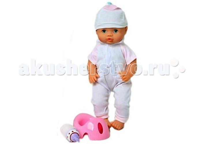 Shantou Gepai Кукла функциональная Пью и писаюКукла функциональная Пью и писаюПью и писаю интерактивная кукла функциональная — кукла пупс, в наборе с бутылочкой для кормления, из которой она будет пить, а также в наборе с горшком, на который будет ходить.   Кукла интерактивная представлена в ассортименте, есть два варианта — кукла в голубом костюмчике, и кукла в розовом костюмчике.<br>