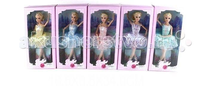 Shantou Gepai Кукла 29 см БалеринаКукла 29 см БалеринаКукла-балерина готовится к спектаклю!   На ней уже надета пышная балетная пачка.   Кукле можно придавать изящные танцевальные позы, ведь ее ручки и ножки на шарнирах.  Высота куклы - 29 см.<br>