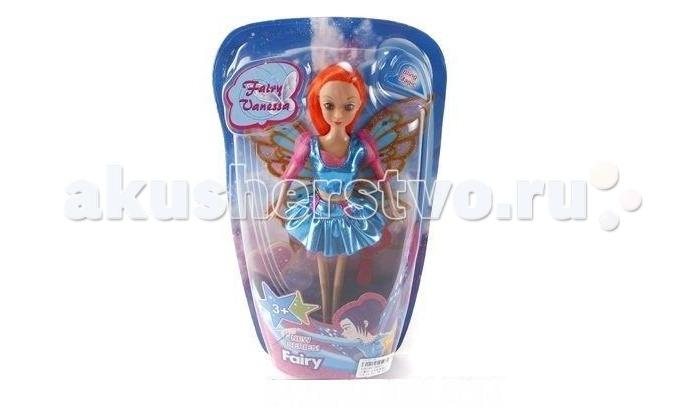 Shantou Gepai Кукла Фея 29 смКукла Фея 29 смКуколка Фея одета в коротенькое голубое платье, за спиной у феи - крылышки.   У куклы подвижные ручки и ножки.  Высота - 29 см.<br>
