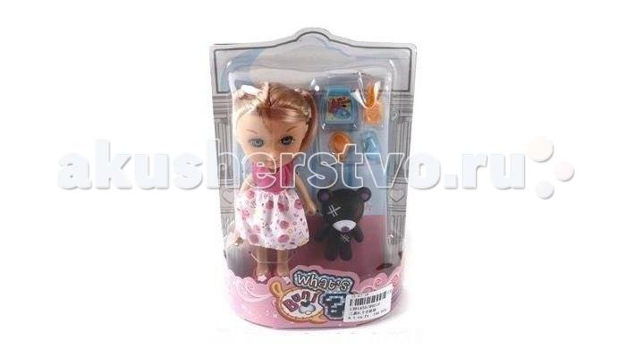 Shantou Gepai Набор кукла 16 см с питомцемНабор кукла 16 см с питомцемКукла с питомцем и аксессуарами.   У куколки длинные волосы, настоящие реснички!  Высота куклы - 16 см.  Комплектность: кукла питомец еда для питомца<br>