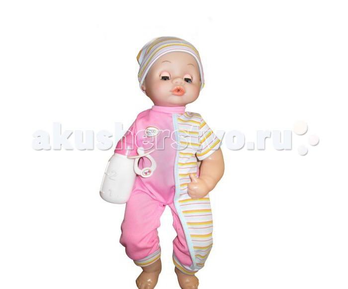 Shantou Gepai Пупс 38 см функциональныйПупс 38 см функциональныйПупс 38 см функциональный — кукла пупс, в наборе с бутылочкой для кормления, из которой она будет пить, а также писать.  12 детских звуков: 1) ах-ах-ах; 2) ма-ма; 3) хе-хе-хе; 4) па-па; 5)вау-вау-вау;6) кашляет; 7)чихает; 8) смеется; 9) плачет; 10) спит; 11) сосет соску; 12) играется.   2 функции: пьет и писает.   Соска - аксессуар.<br>