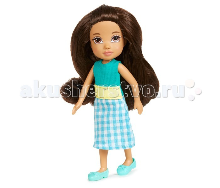 Moxie Кукла Mini КамеоКукла Mini КамеоMoxie Кукла Mini Камео предназначена специально для интересных игровых сюжетов. Выполнена она из высококачественного пластика, обладает подвижными соединениями и съемной одеждой из текстильного материала.   Длинные каштановые волосы, собранные в хвост и детально прорисованное лицо сделают эту куколку любимицей вашей дочери. Она одета в сарафан с юбкой в горизонтальную полоску, который можно снять, расстегнув липучку и голубые балетки.<br>