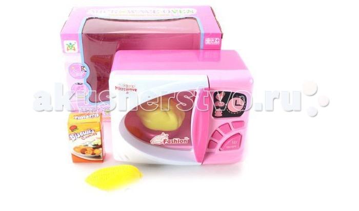 Shantou Gepai Микроволновая печьМикроволновая печьМикроволновая печь - функциональная игрушка, которая познакомит ребенка с основными правилами использования бытовой техники, например, научит включать и выключать прибор, следить за приготовлением пищи.  У микроволновой печи открывается дверка.   Включается подсветка.  Работает от батареек (в комплект не входят).  Комплектность: печь продукты<br>
