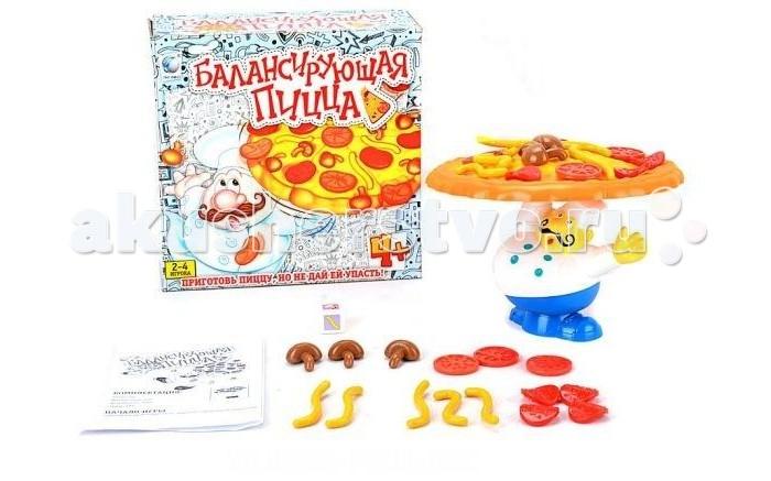 Shantou Gepai Настольная игра Балансирующая пиццаНастольная игра Балансирующая пиццаНастольная игра для малышей.  Необходимо приготовить пиццу, укладывая ингредиенты, но при этом чтобы она не упала.  Изготовлено из качественных, безопасных для детей материалов.<br>