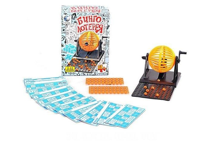 Shantou Gepai Настольная игра Бинго лотереяНастольная игра Бинго лотереяНастольные игры всегда пользовались большой популярностью.   Одной из любимых игр взрослых и детей считалось лото, где нужно доставать из мешка бочонки с цифрами и закрывать игровые поля на карточках.   Shantou Gepai Бинго лотерея 8021A сделана по тому же принципу. Однако здесь нет мешка, есть специальный лототрон, который можно крутить с помощью специальной ручки.   Бинго лотерея способна увлечь как детей, так и взрослых. Собирайтесь вместе с семьей, зовите друзей и наслаждайтесь совместным времяпровождением.   Играть в Бинго лотерею может от двух до двенадцати человек.   Элементы этой уникальной настольной игры изготовлены из качественного пластика ярких цветов.<br>