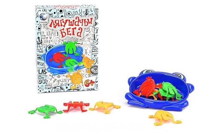 Shantou Gepai Настольная игра Лягушачьи бегаНастольная игра Лягушачьи бегаНастольные игры набирают все большую популярность как среди детей, так и взрослых. И это не удивительно, так как они позволяют не только прекрасно развлечься в компании семьи и друзей, но и расслабиться, забыть о ежедневных бытовых заботах, в полной мере окунувшись в процесс игры.   Shantou Gepai Лягушачьи бега 8106 - отличная настольная игра, которая не позволит вам заскучать.   Набор состоит из яркого цвета пластиковых лягушек и специальной емкости, куда они должны прыгнуть. Для победы игрок должен проявить прежде всего скорость, чтобы помочь лягушке выиграть марафон и, тем самым, обойти своего соперника.<br>