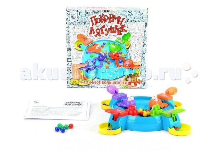 Shantou Gepai Настольная игра Покорми лягушекНастольная игра Покорми лягушекНастольная игра для малышей.  Необходимо накормить лягушек, выигрывает тот, кто съест больше.  Изготовлено из качественных, безопасных для детей материалов.<br>
