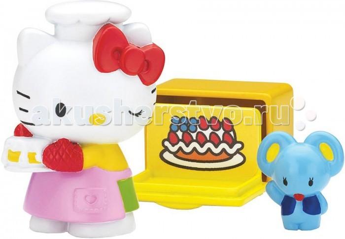Hello Kitty Игровой набор Повар в сумкеИгровой набор Повар в сумкеHello Kitty Игровой набор Повар в сумке включает в себя фигурку популярной Hello Kitty, которая, как истинная хозяйка, приготовила вкусный торт, фигурку забавного мышонка и виниловую плитку-духовку.   Набор упакован в красочную сумочку в виде яблока, которую можно захватить с собой в дорогу, а также аккуратно хранить весь игрушечный набор. Такой игрушечный набор может стать отличным подарком для ребенка, с которым он разовьет мелкую моторику рук и проведет свободное время увлекательно.<br>