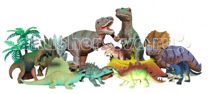 Megasaurs (HGL) Игровой набор динозавров 11 шт.Игровой набор динозавров 11 шт.Megasaurs (HGL) Игровой набор динозавров 11 штук с высокой детализацией и тщательной проработкой элементов. Тема эпохи динозавров никогда не останется в прошлом! Каждый ребенок так или иначе интересовался этим доисторическим миром и мечтал о своем собственном динозавре. Серия игрушек Мегазавры окунет Вашего ребенка в загадочный, увлекательный, неизведанный доисторический мир!  В наборе представлены 11 динозавров различных видов, таких как тираннозавр Рекс, трицератопс, стегозавр, апатозавр и другие. Все динозавры выполнены из прочной и качественной резины, на которую нанесена нетоксичная и совершенно безопасная, но в то же время стойкая краска.   Каждый динозавр проработан до мельчайших тонкостей и является точным прототипом своего оригинала. Кроме того, динозавры влагоустойчивы, а значит, отлично подходят для игр в воде (например, в ванной).<br>