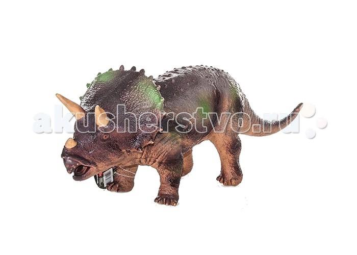 Megasaurs (HGL) Фигурка динозавра ТрицератопсФигурка динозавра ТрицератопсMegasaurs (HGL) Фигурка динозавра Трицератопс с высокой детализацией и тщательной проработкой элементов.   Проведенная работа над игрушкой позволяет как следует рассмотреть все интересующие элементы: шкуру, глаза, рога. Кроме этого, трицератопс выглядит весьма реалистично и представляет из себя точную уменьшенную копию некогда жившего на планете динозавра.   Трицератопс — это травоядный динозавр, который жил 60 миллионов лет назад на территории нынешней Индии и Северной Америки. Внешний вид его отчасти схож с современным носорогом. Отличительной чертой трицератопса стал широкий костяной воротник и три больших острых рога на морде.  Размер фигурки: 18 х 49 см<br>