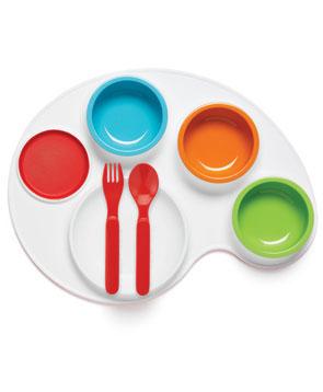 Посуда Skip-Hop Набор развивающий для еды Palette Plate