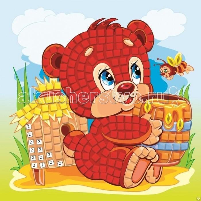 Origami Мозаика самоклеющая Медвежонок с медом