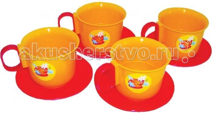 Плэйдорадо Набор посуды чашки 8 предметовНабор посуды чашки 8 предметовНабор чашек Плэйдорадо представляет собой игрушечный сервиз из 8 предметов на 4 персоны. Таким образом, благодаря этому комплекту, девочка сможет устроить настоящее чаепитие со своей любимой игрушкой. Выполнены изделия из высококачественного нетоксичного пластика, который абсолютно безопасен для детского здоровья. Набор обладает яркой расцветкой, сочетающей в себя красные и желтые тона.  Комплектация набора:   4 блюдца;  4 чашки;<br>
