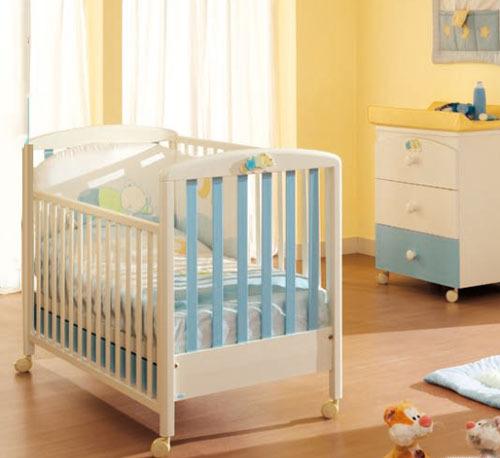 Детские кроватки MIBB Nuvoletta azzurro