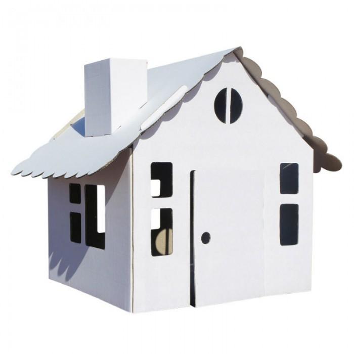 Балуем и Балуемся Домик-раскраска Домик в деревнеДомик-раскраска Домик в деревнеБалуем и Балуемся Домик-раскраска Домик в деревне - это небольшое строение из белого прочного картона можно раскрасить красками или фломастерами, что придаст домику неповторимый стиль.   Игрушка станет «жилищем» для кукол, солдатиков и других персонажей, которых дети задействуют в сюжетно-ролевых играх.   Домик – это хорошее приобретение для детских садов или хобби-центров. Ведь разрисовывать стены и крышу могут несколько ребятишек, также как и вести общую интересную игру.<br>