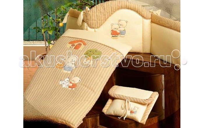 Одеяло BabyPiu Biba - полулегкое одеяло с вышивкой с наволочкойBiba - полулегкое одеяло с вышивкой с наволочкойТкань окрашенная с тиснением и линиями. Центральная вышивка на одеялке и двойная аппликация на бортиках.<br>