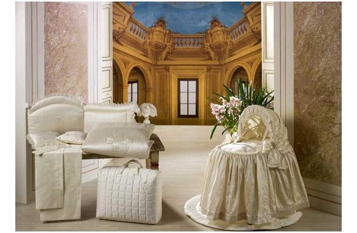 Одеяло BabyPiu Шелковые эмоции - Одеяло из ткани пике с вышивкой 150х115 для кроватки