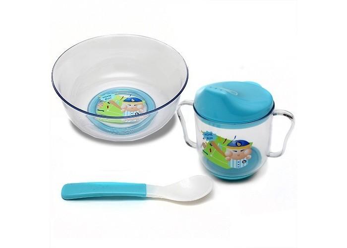 Бусинка Набор посуды: тарелка, ложка, поильник