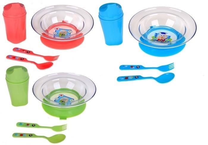 Бусинка Набор посуды подарочныйНабор посуды подарочныйНабор посуды: тарелка, ложка, вилка, поильник Бусинка   Набор детской посуды для кормления. Рекомендовано для детей от 6 месяцев.  В наборе: Тарелка на присоске. Поильник с ручками и удобным носиком 200 мл. Ложка и вилка с удобной для малыша ручкой.  Продукция изготовлена из безопасных материалов на современном оборудовании и проходит тщательный контроль качества.<br>