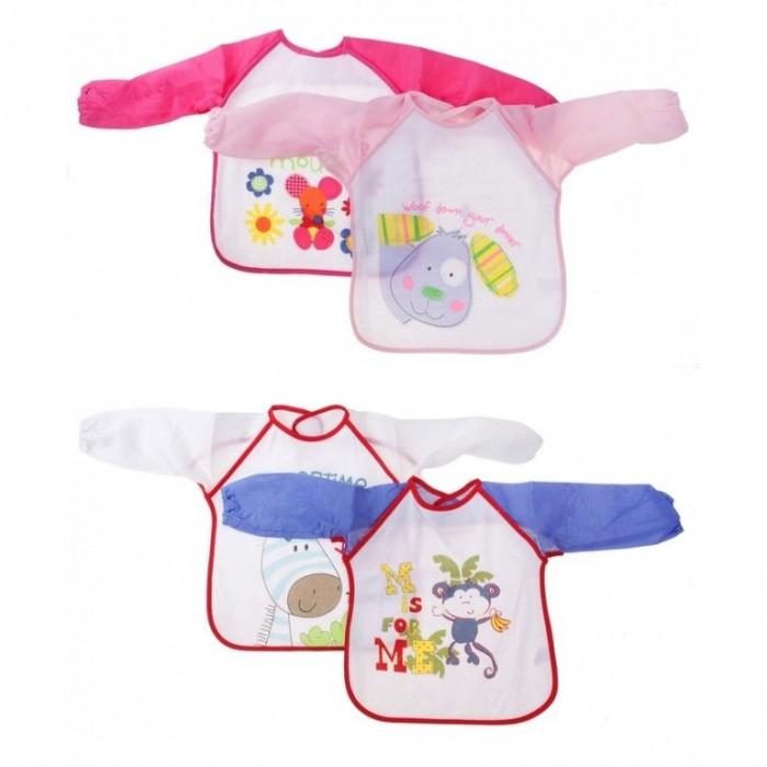 Нагрудник Бусинка фартук с рукавамифартук с рукавамиНагрудник фартук с рукавами Бусинка   Нагрудник защищает одежду ребёнка во время еды.   Изготовлен из махровой ткани (хлопок с добавлением полиэстера) и мягкой плёнки.  Стирать при температуре 40°С (можно в стиральной машине).   Размер 34х36 см Материал: полиэстер, хлопок  Рисунки в ассортименте.<br>
