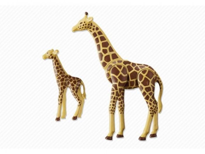 Конструктор Playmobil Жираф с детенышемЖираф с детенышемКонструктор Зоопарк Playmobil Жираф со своим детенышем жирафом  Оба жирафа могут поднимать и опускать голову. У взрослого жирафа подвижны все ноги.<br>