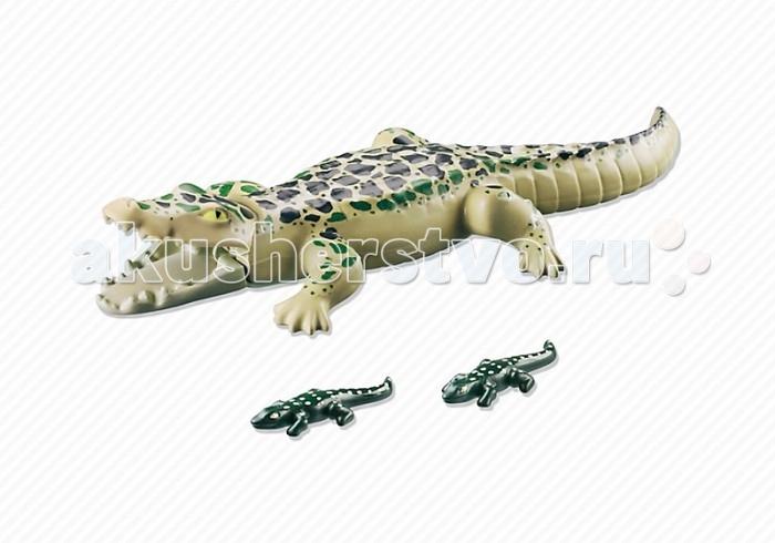 Конструктор Playmobil Аллигатор с детенышамиАллигатор с детенышамиКонструктор Зоопарк Playmobil Аллигатор с детенышами  У большого аллигатора подвижны нижняя и верхняя челюсти. Животные всплывают на поверхность воды.<br>