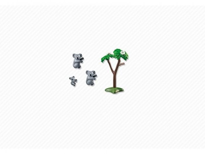 Конструктор Playmobil Семья КоалСемья КоалКонструктор Зоопарк Playmobil Семья Коал  Животные могут поднимать и опускать голову. У взрослых подвижны все части тела.<br>