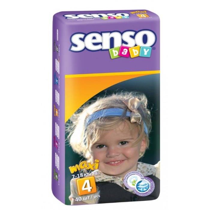 Senso Baby Подгузники макси (7-18 кг) 40 шт.