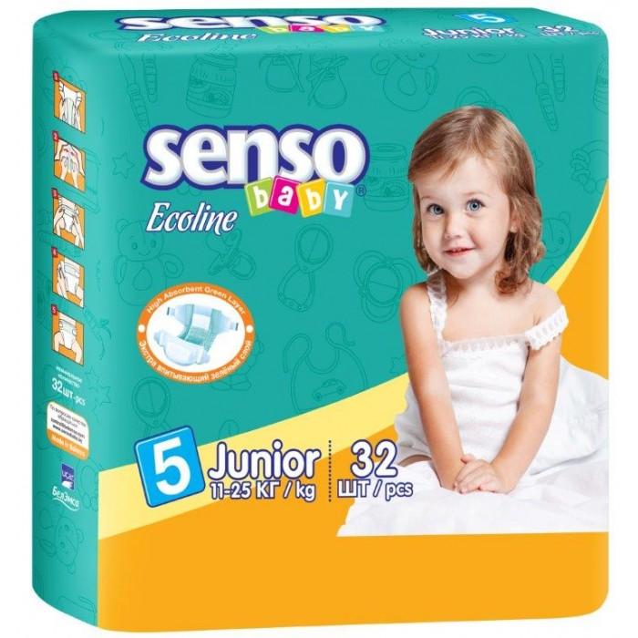 Senso Baby Подгузники Ecoline юниор (11-25 кг) 32 шт.Подгузники Ecoline юниор (11-25 кг) 32 шт.Подгузники Ecoline юниор (11-25 кг) 32 шт. Senso Baby - это самые современные технологии, экологичное сырьё и непрерывный контроль качества для комфорта вашего малыша!  Подгузники гарантируют сухость на длительное время, безопасность для самой чувствительной кожи детей и непревзойдённое спокойствие во время сна и прогулок.  Особенности: надёжные и мягкие боковые барьерчики предохраняют от бокового протекания в любой ситуации многоразовые липучки гарантируют надёжную и комфортную фиксацию подгузников анатомическая форма подгузника обеспечивает идеальную посадку на теле малыша, как во время сна, так и во время активных игр дышащий наружный слой с мельчайшими микропорами, изготовленный из нетканого материала, предотвращает появление раздражения и опрелостей на чувствительной детской коже нежные и эластичные резиночки не сдавливают ножки малыша и не оставляют следов инновационная 3D-система впитывания состоит из нескольких слоёв и содержит улучшенный абсорбирующий материал (sap) и натуральную природную целлюлозу, обеспечивающие сверхвысокую впитываемость внутренняя поверхность подгузника мягкая и приятная на ощупь нанесённый крем-бальзам дополнительно ухаживает за нежной кожей ребёнка, а его состав абсолютно безвреден для кожи, ведь он прошёл системный контроль качества эластичные боковые ушки обеспечивают идеальное прилегание к телу малыша; ADL-технология равномерно распределяет влагу по всей поверхности впитывающего слоя, не допуская комкования.<br>