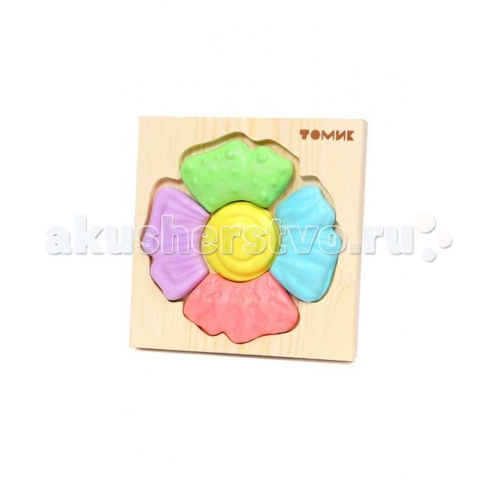 Томик Пазл-картинка ЦветокПазл-картинка ЦветокОбъемный пазл- вкладыш прекрасно развивает логическое мышление, мелкую моторику, память, учит различать цвета, формы и размеры фигурок. Все детали сделаны из дерева, хорошо отшлифованы и покрашены безопасной краской.<br>