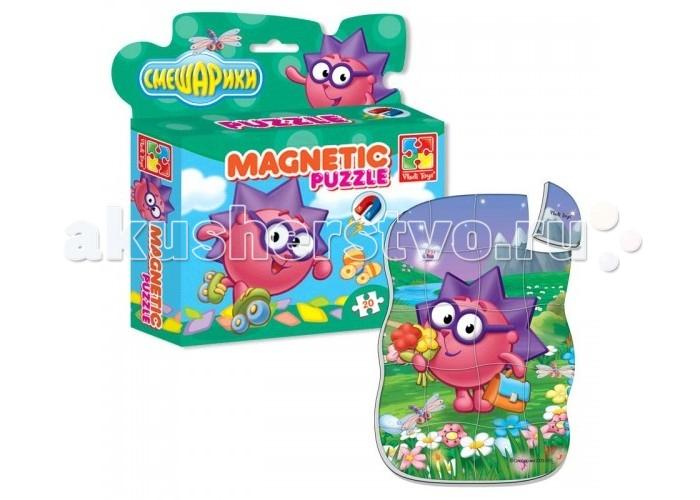 Vladi toys Магнитные фигурные пазлы Смешарики Ёжик 20 деталей