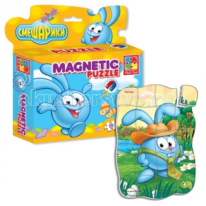 Vladi toys Магнитные фигурные пазлы Смешарики Крош