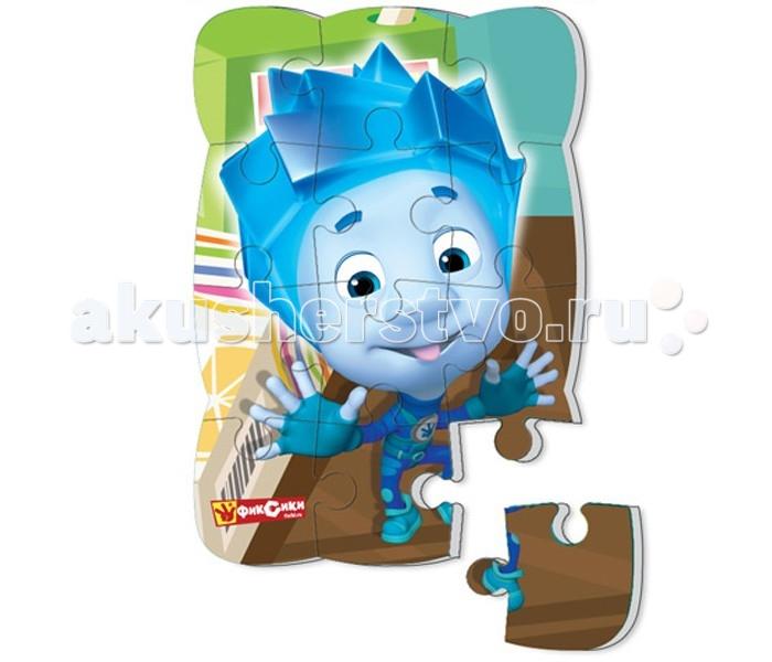 Vladi toys Пазлы на магните Фиксики Нолик 12 деталейПазлы на магните Фиксики Нолик 12 деталейПазл на магните Фиксики состоит из 12 крупных деталей.  Каждая деталь пазла объемная и мягкая, благодаря специальной прослойке. Ее легко перемещать по поверхности, удобно брать в руку и держать маленькими детскими пальчиками. Необычный вид соединения деталей делает игру настоящей головоломкой, которая помогает весело проводить время и развиваться.  Пазл можно собирать на холодильнике или любой магнитной поверхности.  Размер пазла 23 х 16 х 0.3 см.<br>