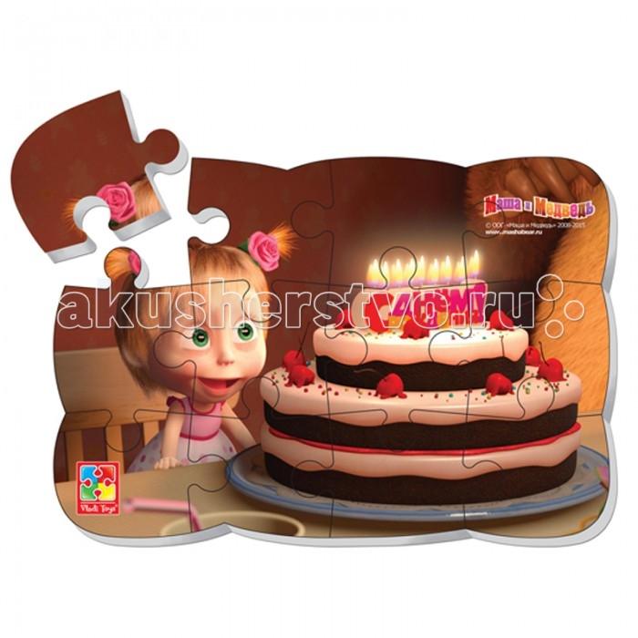 Vladi toys Пазлы на магните Маша день рождения 12 деталей