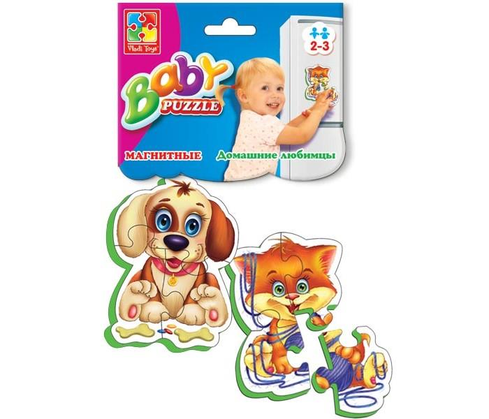 Vladi toys Магнитные Беби пазлы Домашние любимцы
