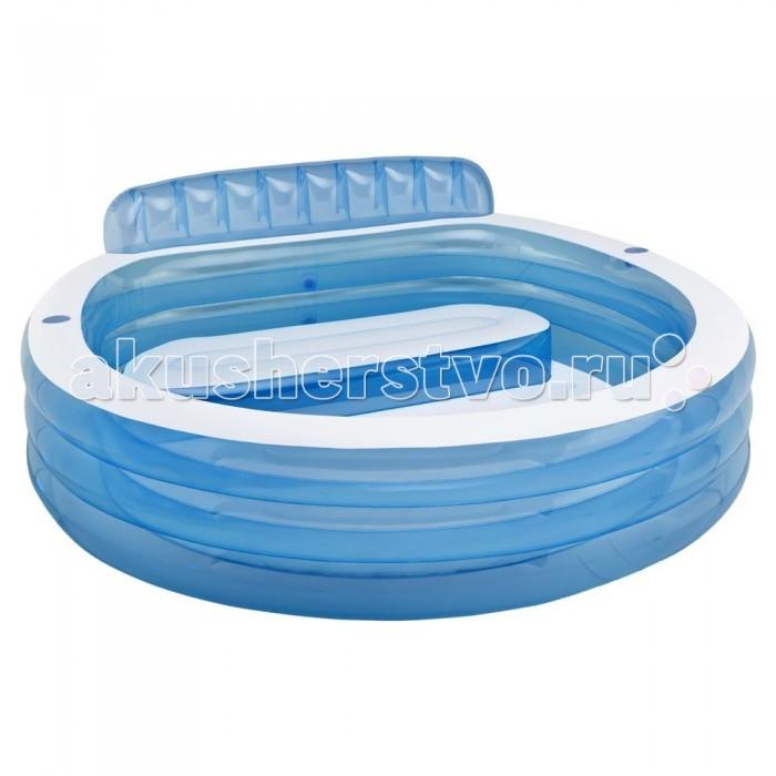 Бассейн Intex Семейный 223.5х216х76 смСемейный 223.5х216х76 смНадувной бассейн Семейный от компании Intex состоит из двух воздушных камер, которые обеспечивают безопасное пребывание в воде.   Прочные стенки бассейна изготовлены из качественного многослойного винила, который позволяет хорошо держать форму.   В бассейне есть встроенная надувная скамейка — поэтому вы сможете с комфортом принимать солнечные ванны, сидя возле прохладной воды в бассейне.   На бортах имеются специальные подстаканники, куда можно поставить бутылку воды или стакан с соком.  Размер: 223.5х216х76 см.  Вместимость бассейна: 640 л. Глубина воды при указанном объеме: 32 см  Вес: 7 кг.<br>