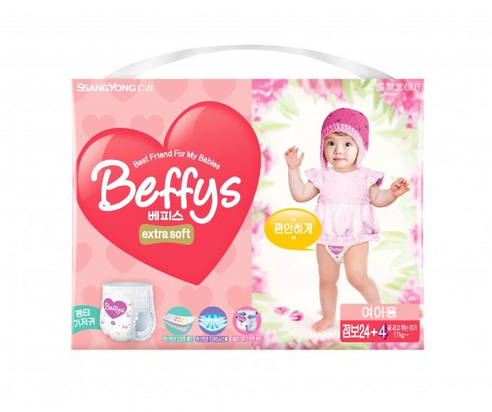 Beffys Подгузники-трусики для девочек extra soft XXL (17+ кг) 28 шт.Подгузники-трусики для девочек extra soft XXL (17+ кг) 28 шт.Подгузники-трусики для девочек Beffy's extra soft XXL (17+ кг) 28 шт., которые идеально подойдут для малышей с чувствительной кожей. Ультрамягкая прокладка поверхности подгузника и герметичность шва не доставят дискомфорт ребенку, а повышенная эластичность резинки способствует отличной фиксации и превосходному обхвату талии малыша.  Очень важная особенность продукции «Beffy's Extra soft» – наличие разных моделей для мальчиков и для девочек. Разница между ними заключается в том, что при разработке каждой учитывались половые особенности строения детского организма, что, в свою очередь, дарит дополнительный комфорт и гарантирует отсутствие протекания для детей.<br>
