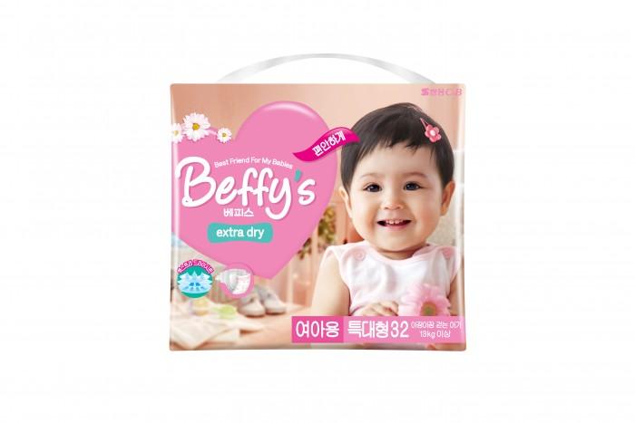 Beffys Подгузники для девочек extra dry XL (13+ кг) 32 шт.Подгузники для девочек extra dry XL (13+ кг) 32 шт.Подгузники для девочек Beffy's Extra dry XL (13+ кг) 32 шт., которые идеально подойдут для малышей с чувствительной кожей. Ультрамягкая прокладка поверхности подгузника и герметичность шва не доставят дискомфорт ребенку, а повышенная эластичность резинки способствует отличной фиксации и превосходному обхвату талии малыша.  Очень важная особенность продукции «Beffy's Extra dry» – наличие разных моделей для мальчиков и для девочек. Разница между ними заключается в том, что при разработке каждой учитывались половые особенности строения детского организма, что, в свою очередь, дарит дополнительный комфорт и гарантирует отсутствие протекания для детей.<br>