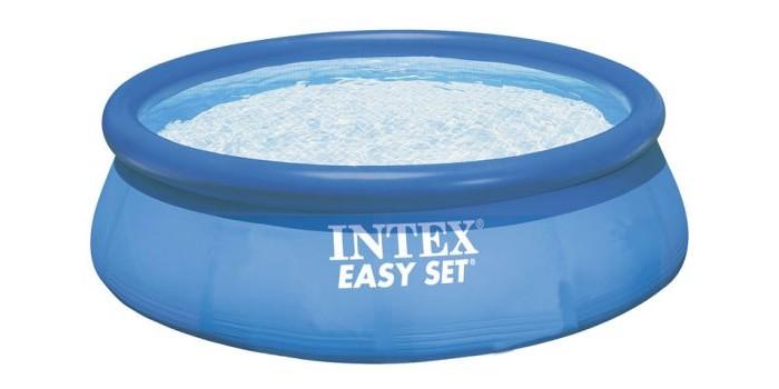 Бассейн Intex Easy Set 366х76 смEasy Set 366х76 смНадувной бассейн Intex Easy Set обладает двумя важными качествами: простотой конструкции и лёгким весом.   В верхней части предусмотрено надувное кольцо, которое по мере наполнения бассейна водой, поднимает и расправляет стенки, обеспечивая необходимую устойчивость. Всего 10 минут потребуется на установку конструкции.   Технология Super-Touch (сочетание винила и полиэстра), используемая в производстве, наделяет материал тройной прочностью, стойкостью к ударам, воздействию солнечного света, растягиваниям и стираниям.   Надувные бассейны, за счет отсутствия металлического каркаса, удобны в хранении и в сложенном виде не займут много места. Модель оснащена клапаном для удобства слива воды и разъемами для подключения фильтрующих и хлорирующих устройств.   В комплекте также идет ремкомплект. С его помощью вы сможете устранить самостоятельно какие-либо механические повреждения на изделии, приобретенные в ходе его использования.  Размер: 366х76 см.  Вместимость бассейна: 5619 л.  Вес: 11 кг.<br>