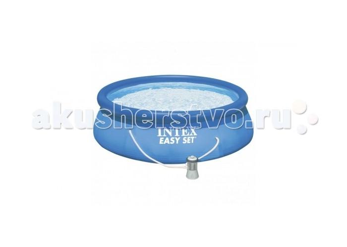 Бассейн Intex Easy Set 244х76 см с фильтромEasy Set 244х76 см с фильтромНадувной бассейн Intex Easy Set обладает двумя важными качествами: простотой конструкции и лёгким весом.   В верхней части предусмотрено надувное кольцо, которое по мере наполнения бассейна водой, поднимает и расправляет стенки, обеспечивая необходимую устойчивость. Всего 10 минут потребуется на установку конструкции.   Технология Super-Touch (сочетание винила и полиэстра), используемая в производстве, наделяет материал тройной прочностью, стойкостью к ударам, воздействию солнечного света, растягиваниям и стираниям.   Надувные бассейны, за счет отсутствия металлического каркаса, удобны в хранении и в сложенном виде не займут много места. Модель оснащена клапаном для удобства слива воды и разъемами для подключения фильтрующих и хлорирующих устройств.  Бассейн с фильтрующим насосом для очистки воды 220V. Фильтрующий насос обеспечивает очистку воды и редкую ее замену (1 раз в месяц).    В комплекте также идет ремкомплект. С его помощью вы сможете устранить самостоятельно какие-либо механические повреждения на изделии, приобретенные в ходе его использования.  Размер: 244х76 см.  Вместимость бассейна: 2419 л.  Производительность насоса: 1250 л/ч.  Вес: 6 кг.<br>